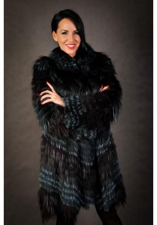 Dámsky kabát z pravej líšky