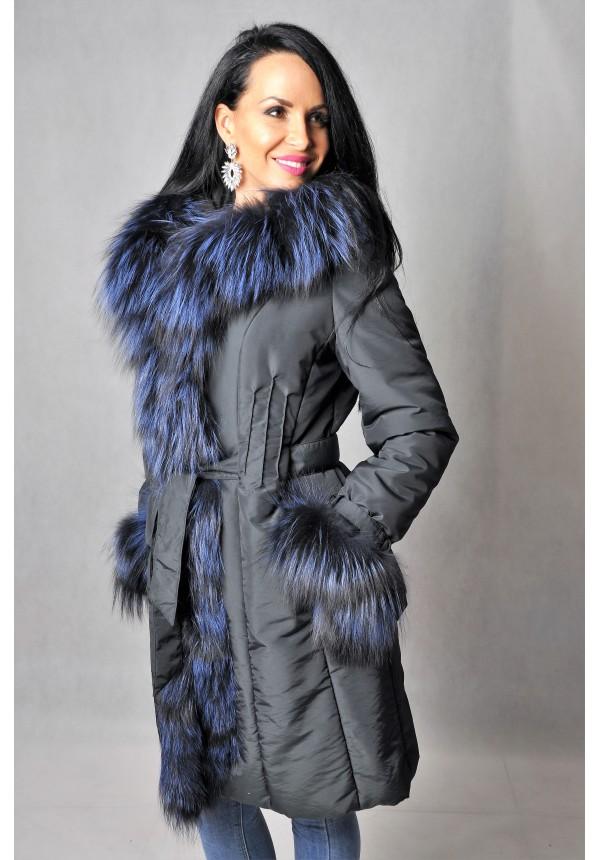 Dámsky textilný kabát s kožušinou Ankara bd786b5f7b1